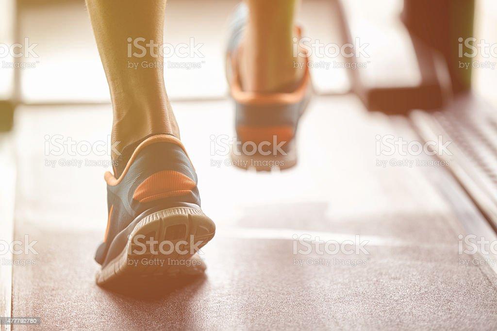 fitness treadmill stock photo
