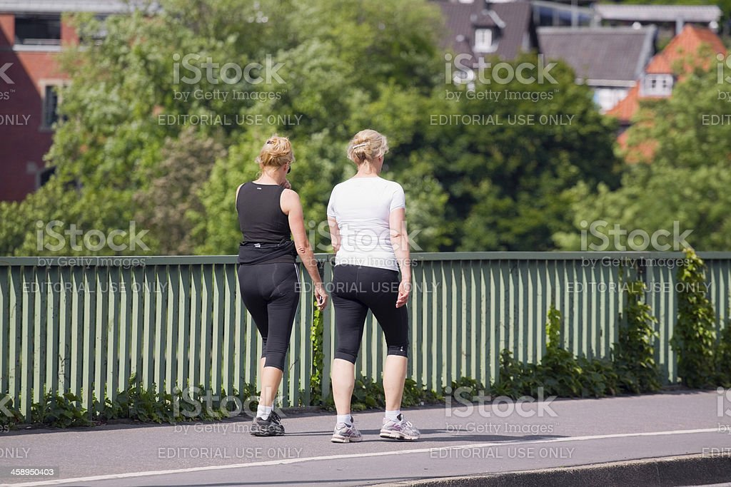 Fitness walk stock photo