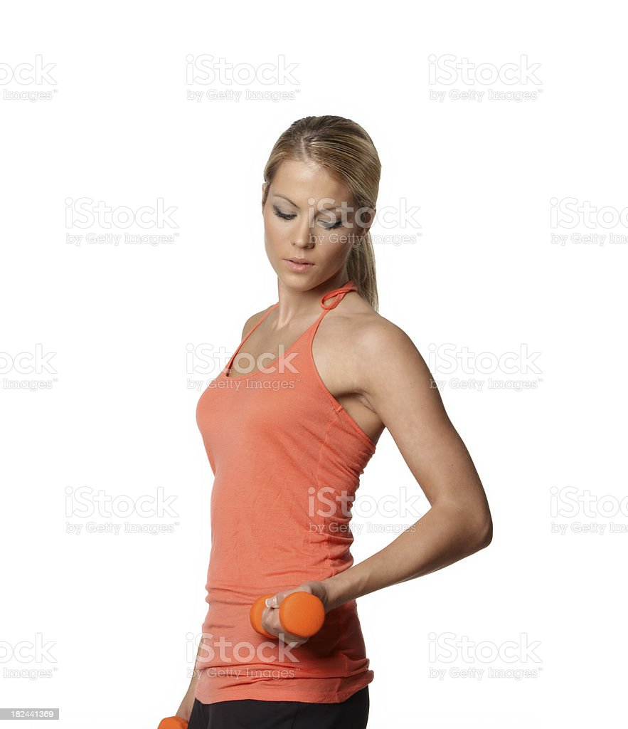Fitness with dumbbell royalty-free stock photo