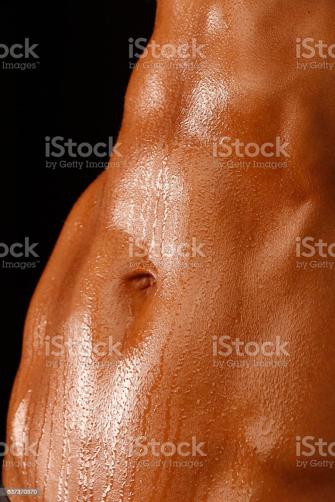 Fitness Woman Abs stock photo