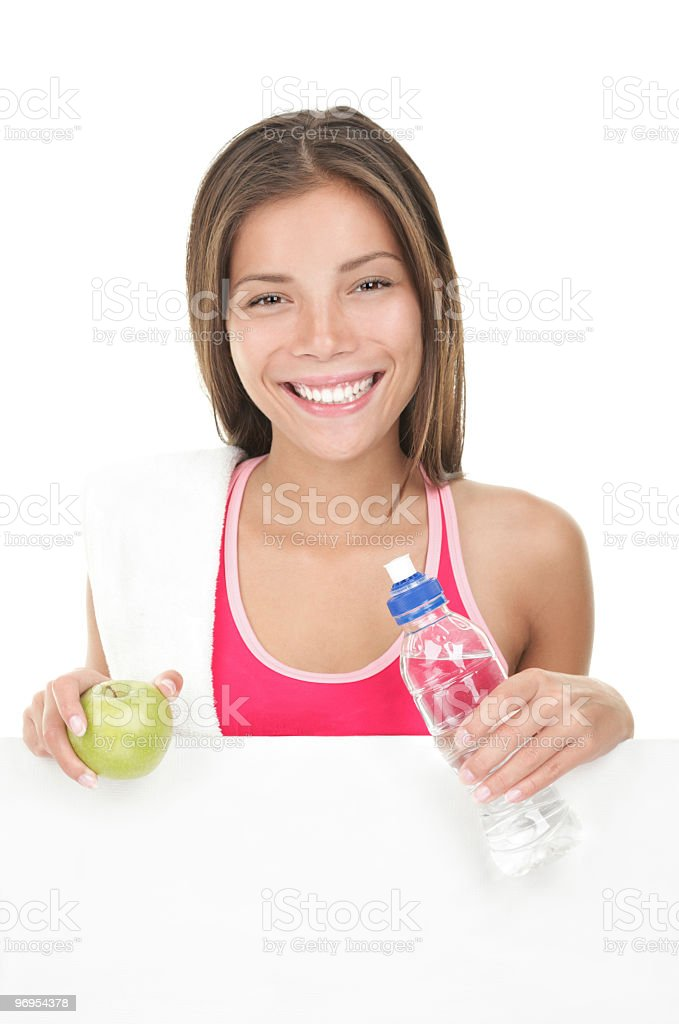 Fitness woman banner royalty-free stock photo