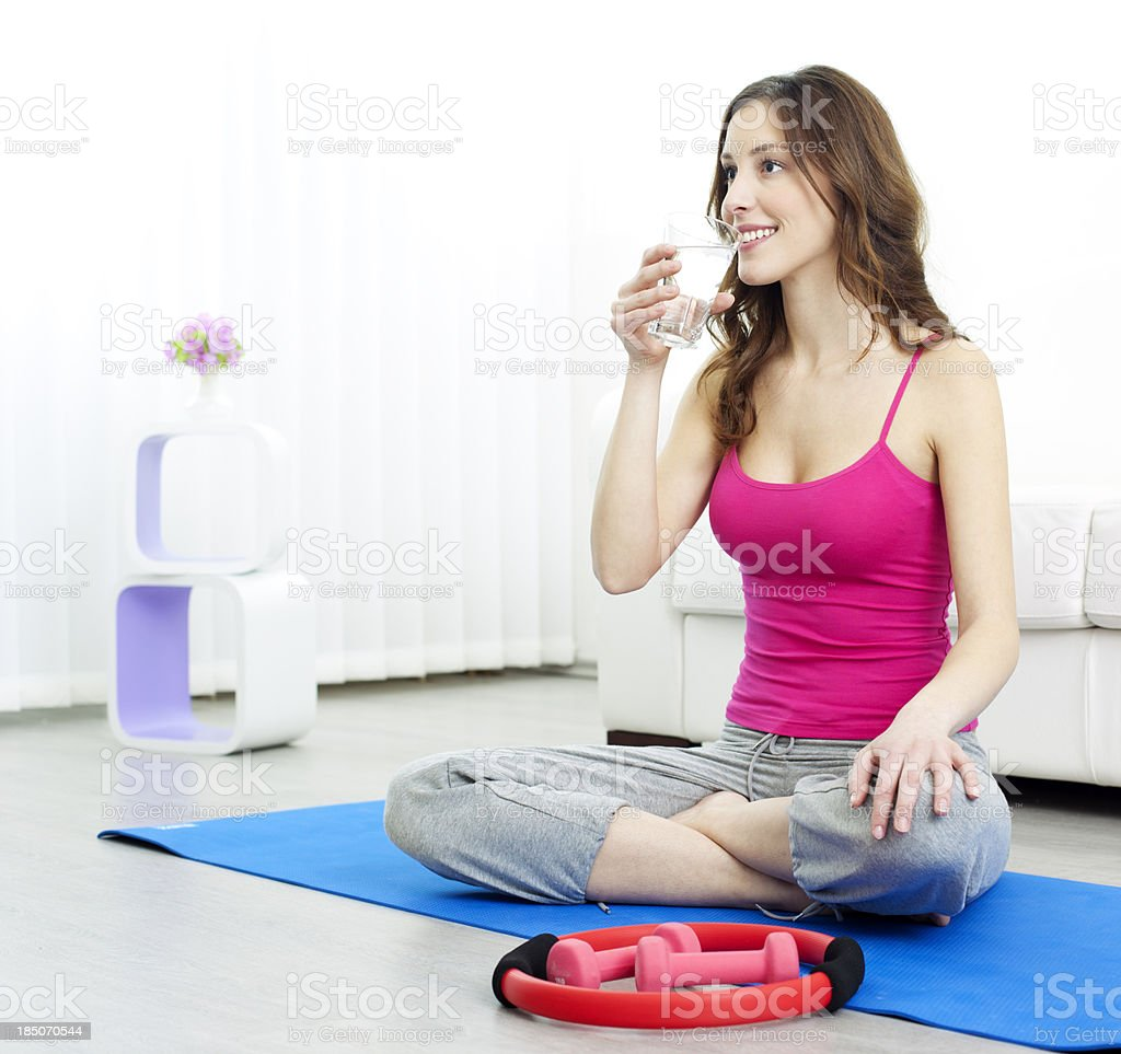 Fitness Woman Drink Water. royalty-free stock photo