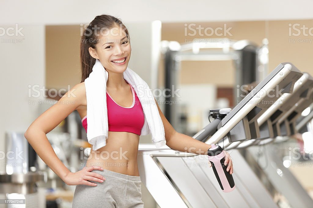 Fitness woman in gym royalty-free stock photo