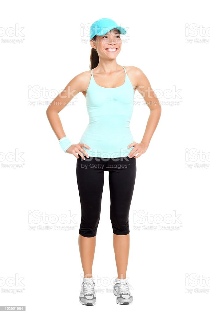 Fitness woman isolated royalty-free stock photo