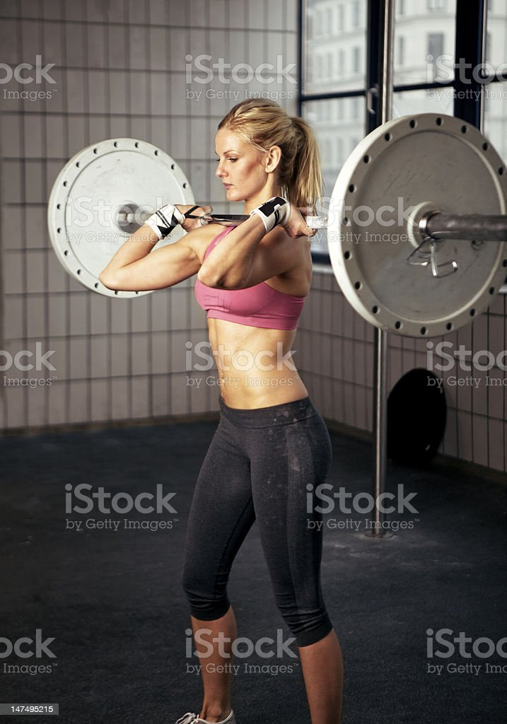 Fitness Woman Lifting Heavy Weight royalty-free stock photo