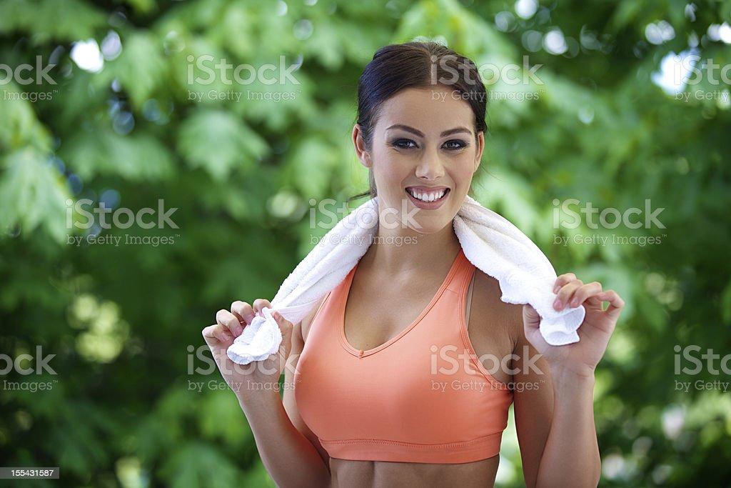 Fitness Woman Portrait royalty-free stock photo