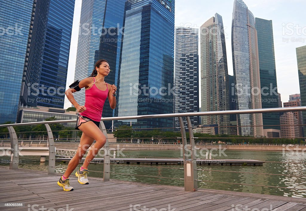 fitness woman running stock photo