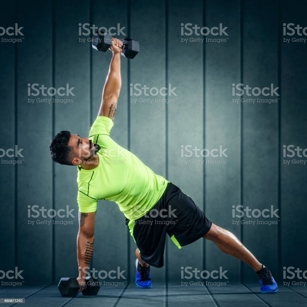 Fitness Workout with Weights stock photo