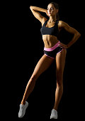 Fitness young girl isolated
