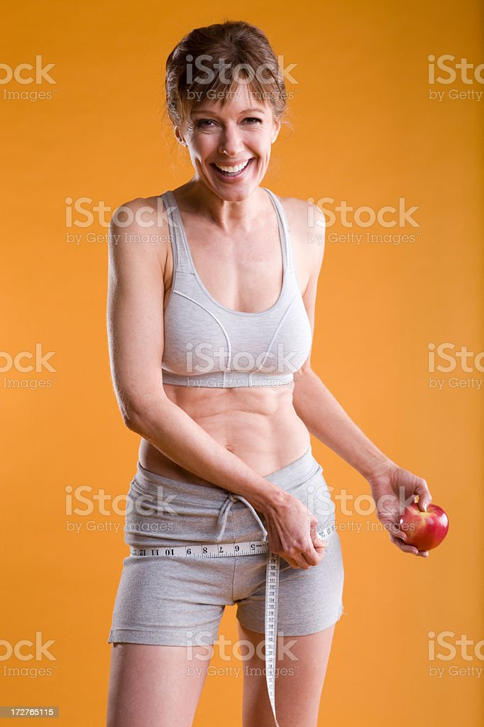 Fitness-Mature Woman Dieting royalty-free stock photo