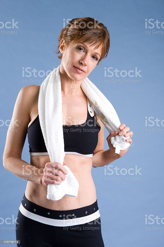 Fitness-Mature Woman Exercising royalty-free stock photo