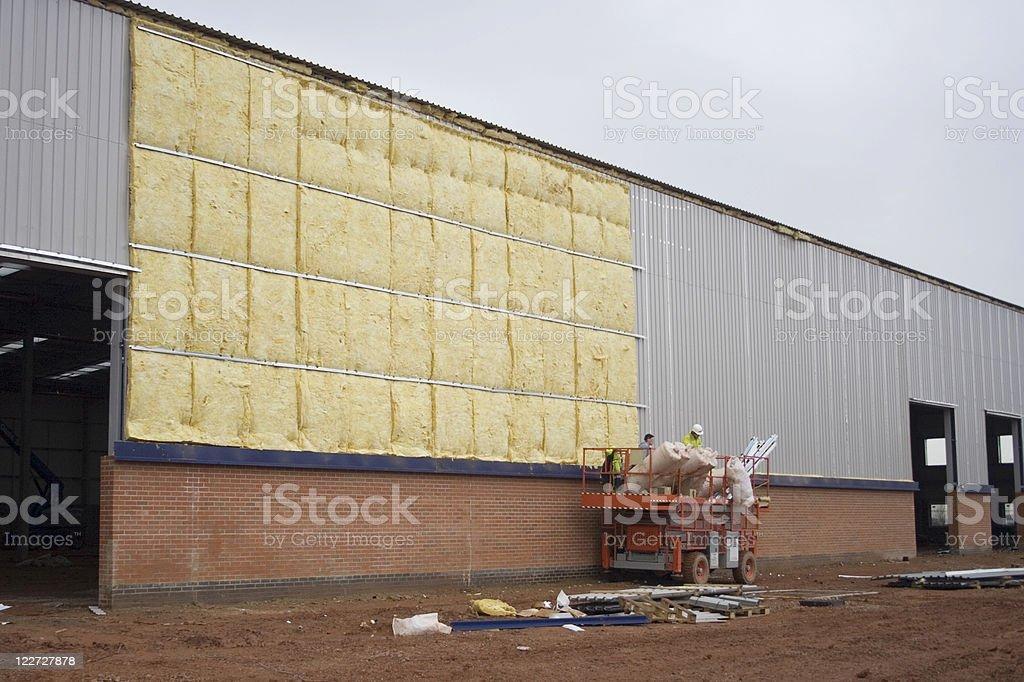 Fitting insulation stock photo