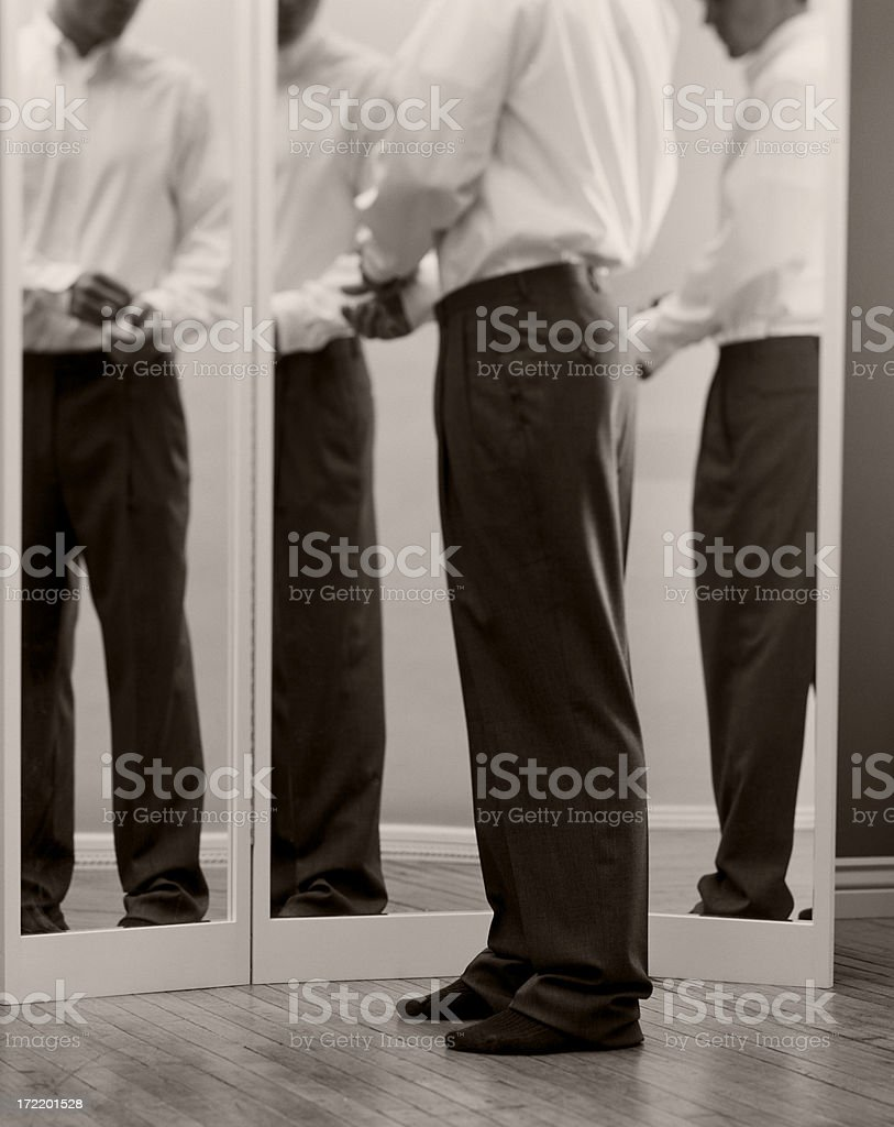 Fitting Pants royalty-free stock photo