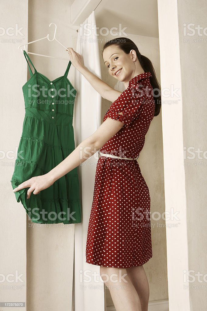 Fitting Room Polka royalty-free stock photo
