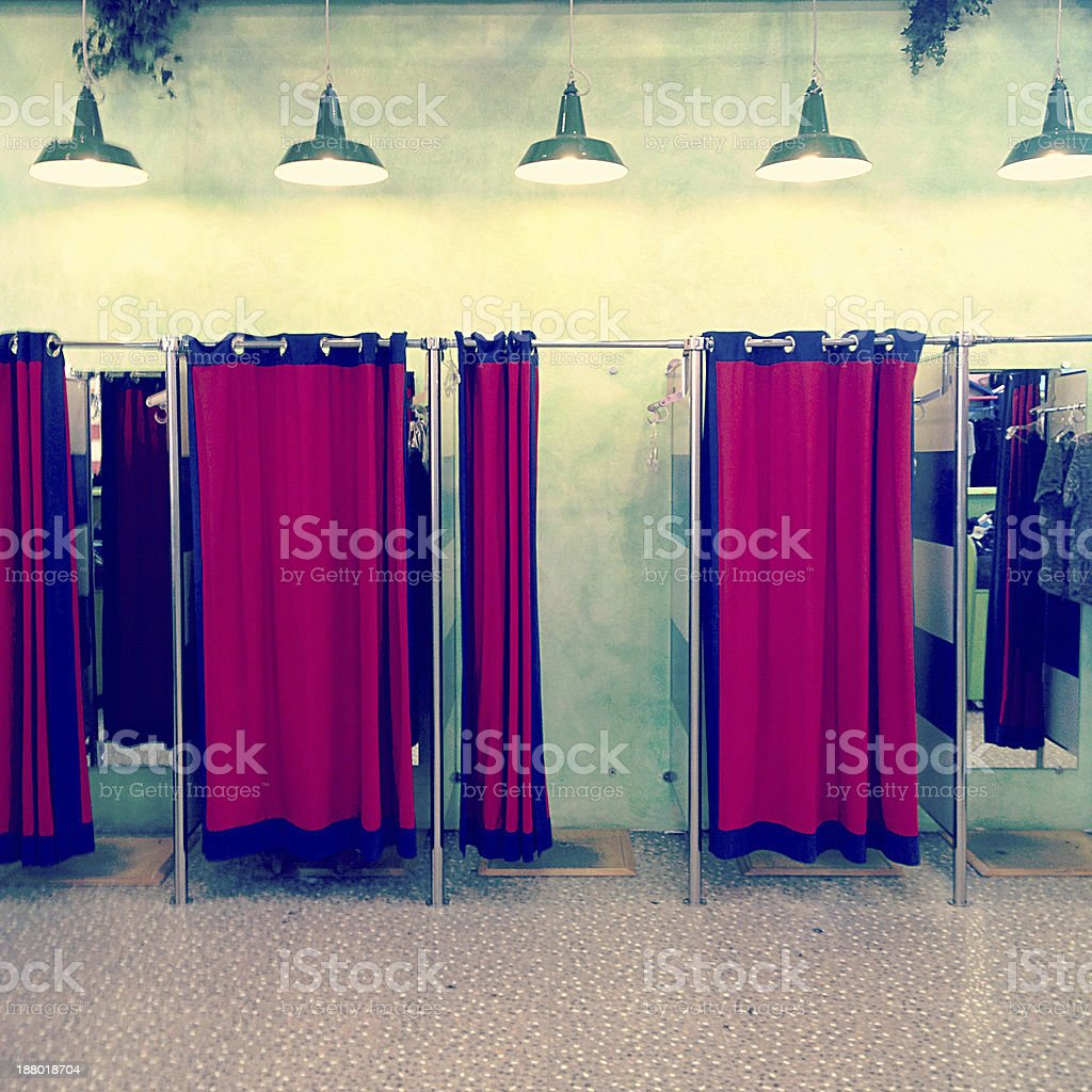 Fitting Rooms stock photo