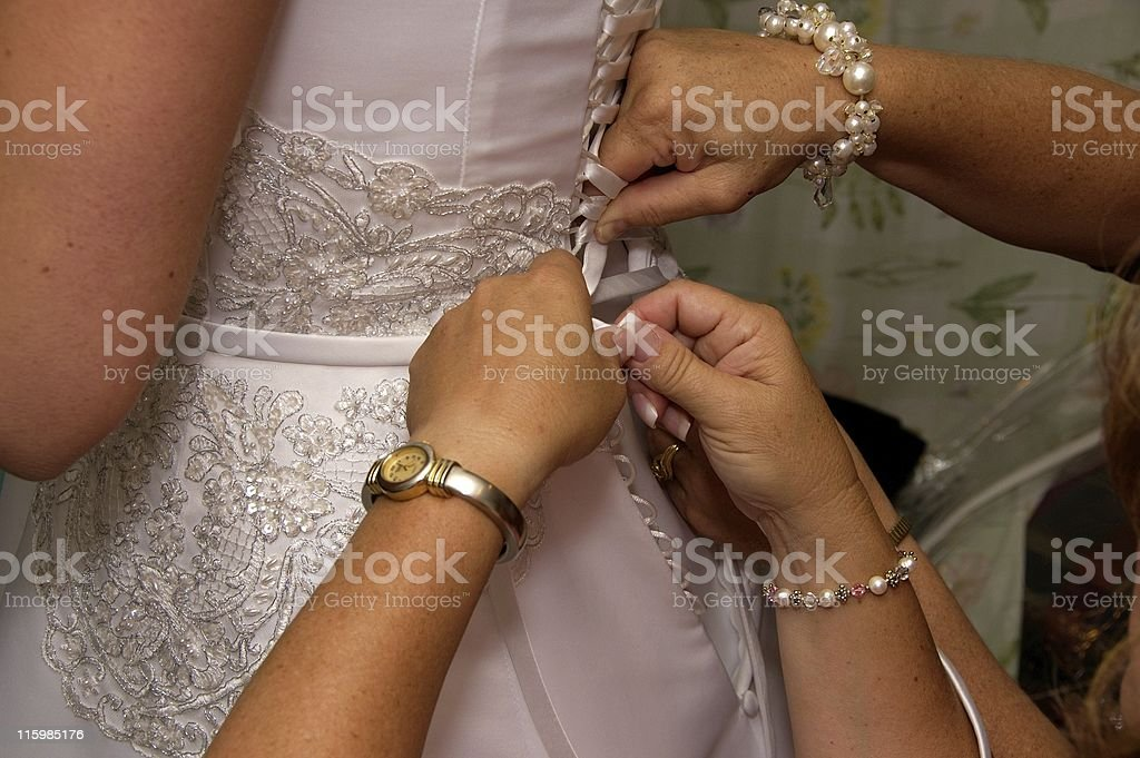 Fitting the Bride royalty-free stock photo