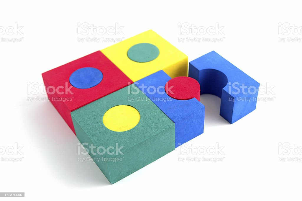 Fitting the Pieces Together royalty-free stock photo