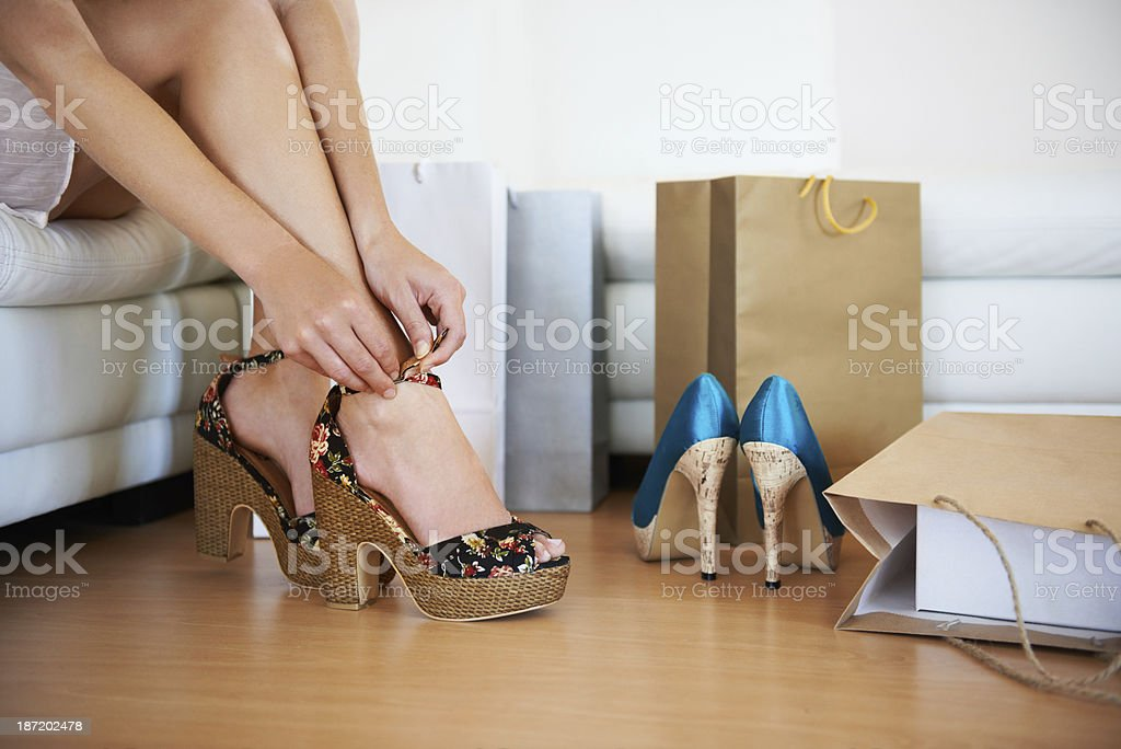Fitting them on stock photo