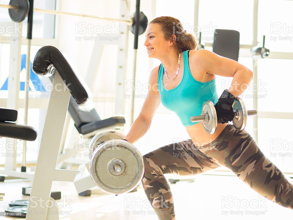 Fittness in Gym stock photo