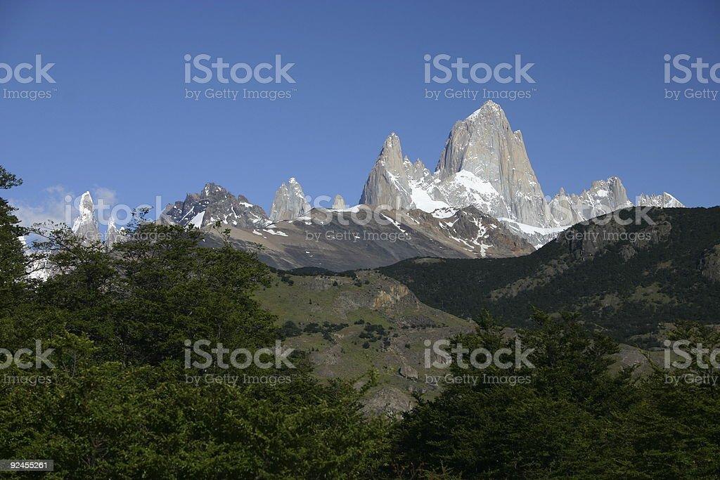 Fitz Roy and Cerro Torre royalty-free stock photo