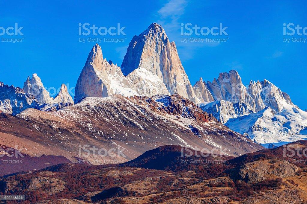 Fitz Roy mountain, Patagonia stock photo