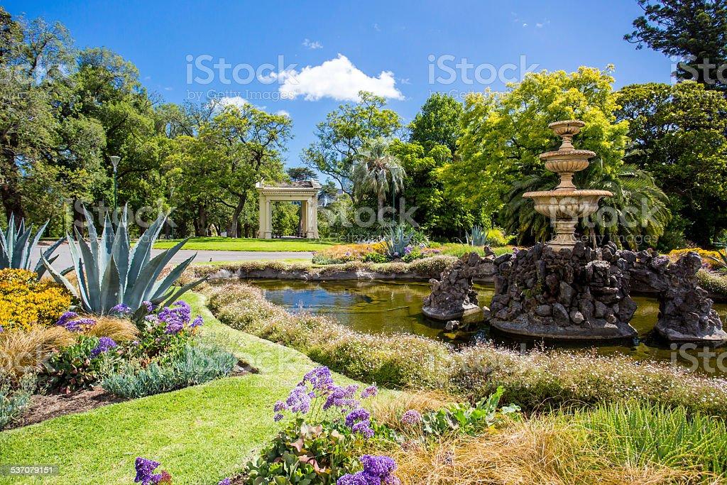 Fitzroy Gardens stock photo