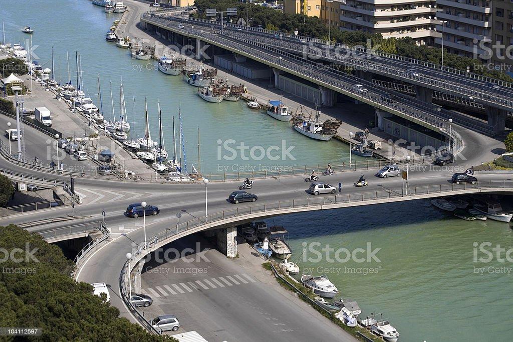 Fiume Pescara royalty-free stock photo