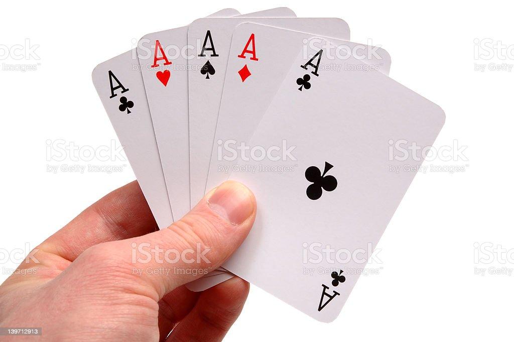 Five aces stock photo