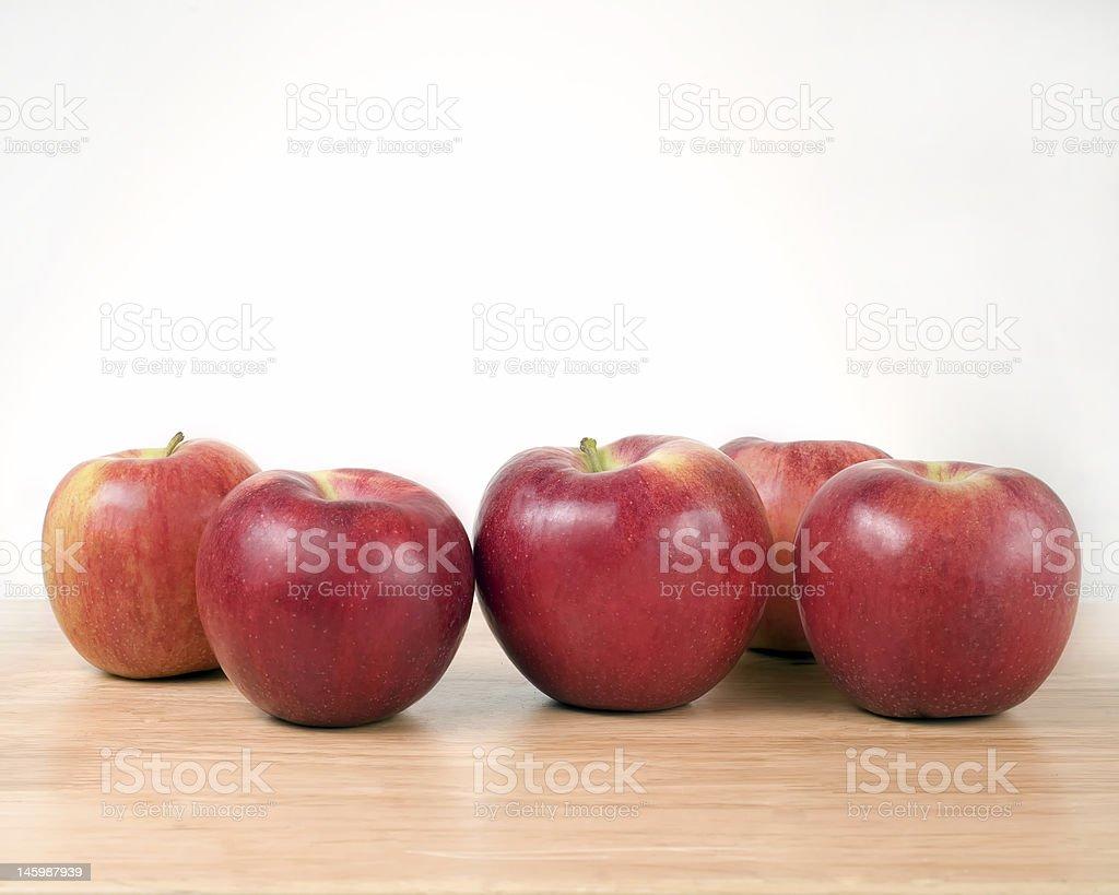 Five Apples stock photo