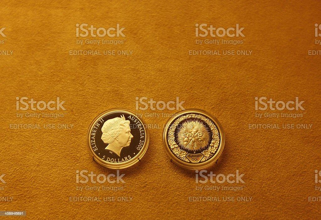 Five australian dollars royalty-free stock photo