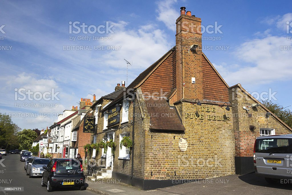 Five Bells in Eynsford, England stock photo