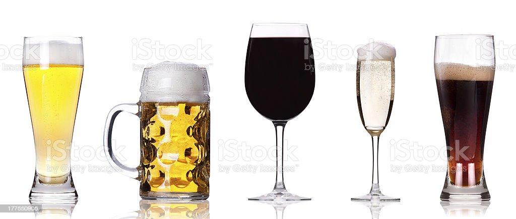 Five Beverages stock photo