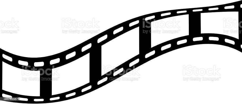 five blank film frames stock photo