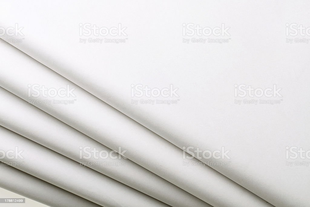 Five blank newspapers royalty-free stock photo