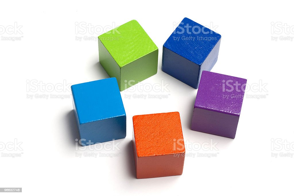 Five blocks in a circle royalty-free stock photo