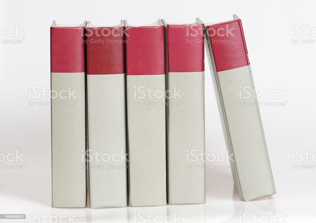 Five books stock photo