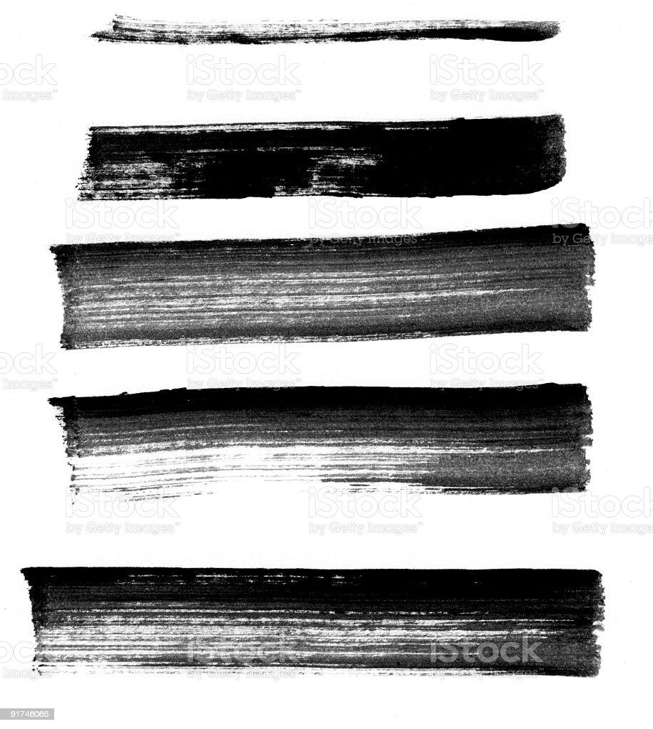 Five Broad Marker Strokes stock photo