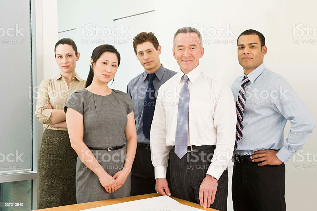 Five business colleagues stock photo