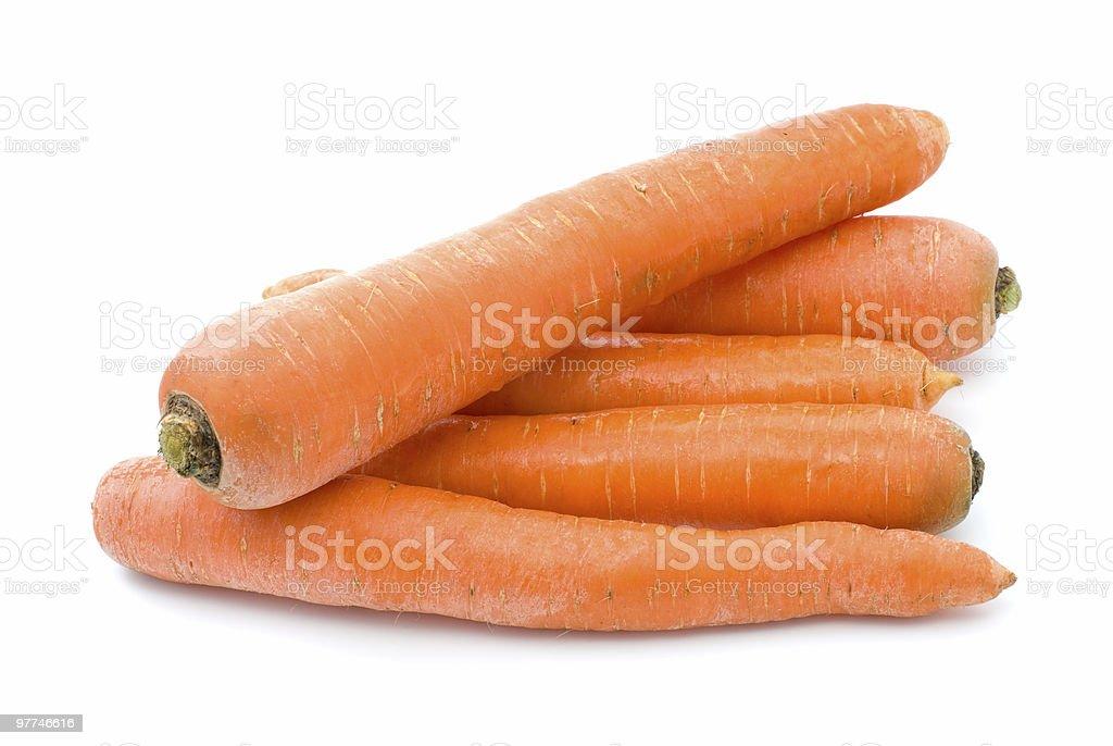 Five carrots stock photo