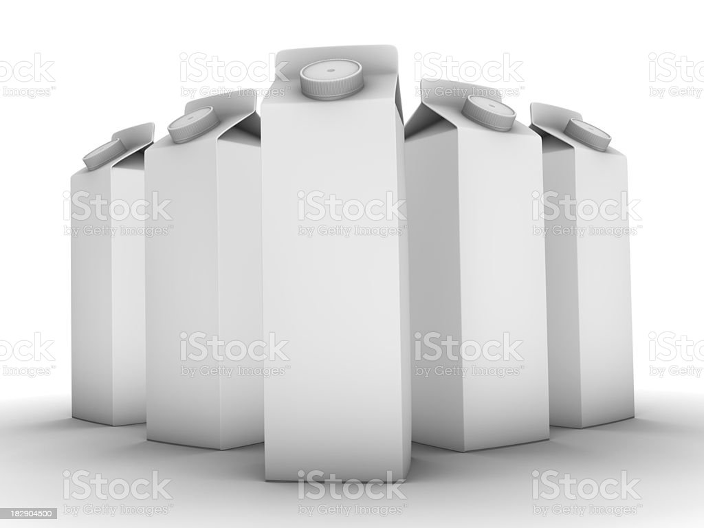 Five Carton Boxes stock photo