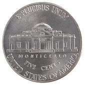 five cent coin Liberty