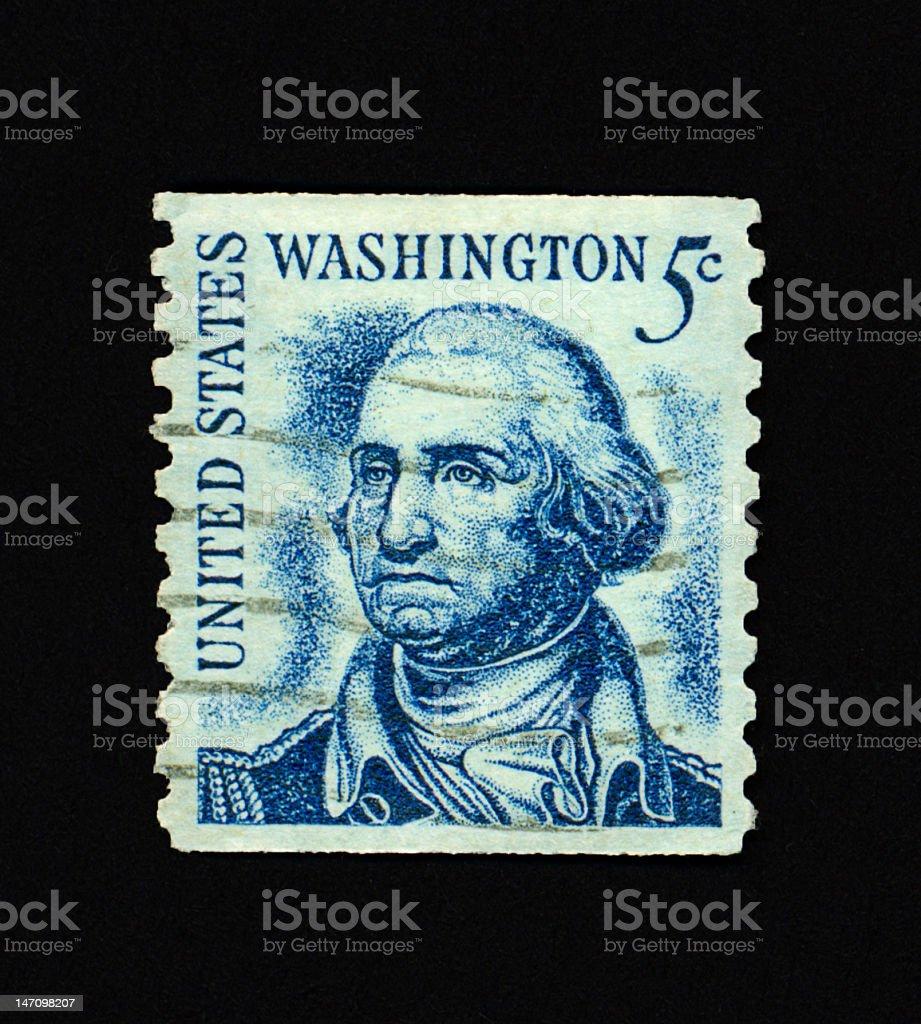 Five Cent Washington Stamp royalty-free stock photo