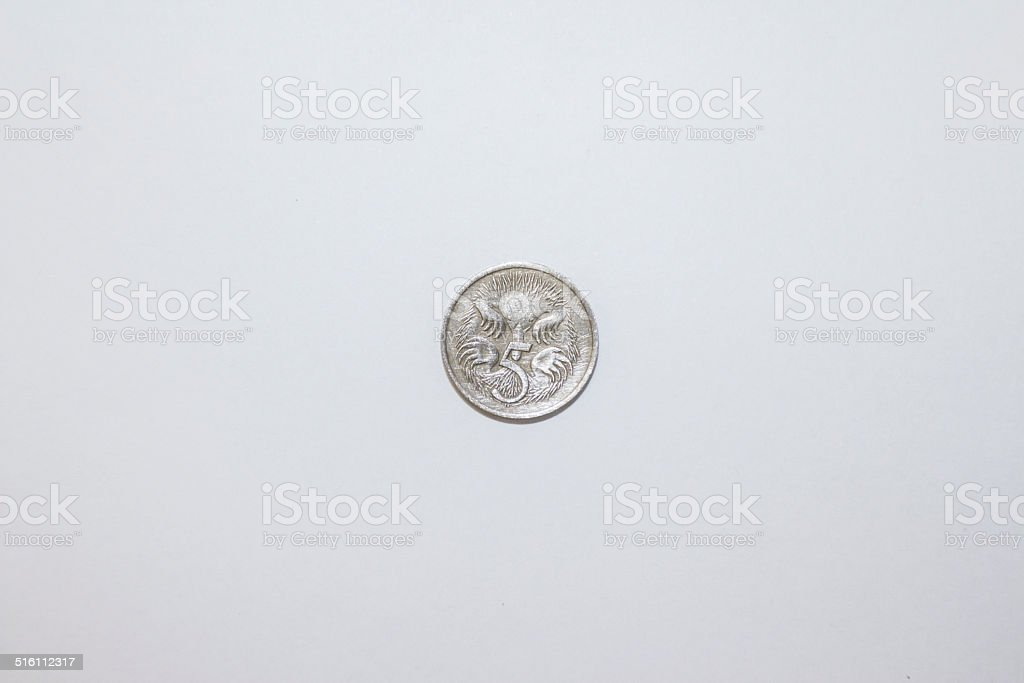 Five cents stock photo