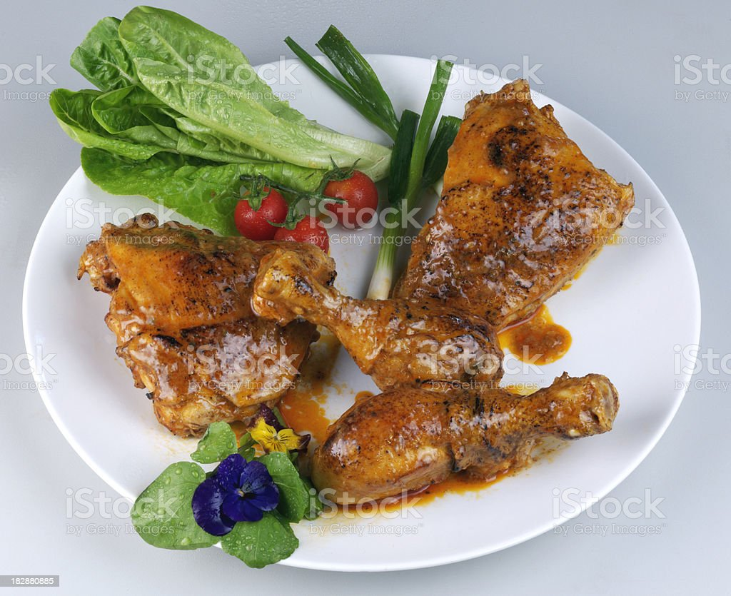 Five Chicken Pieces royalty-free stock photo