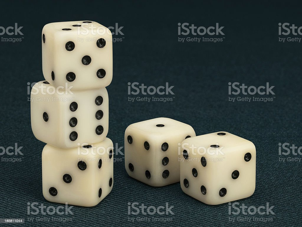 Five dice royalty-free stock photo