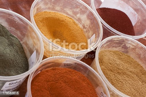 Five different types of colored soil stock photo 178583815 for 5 different types of soil