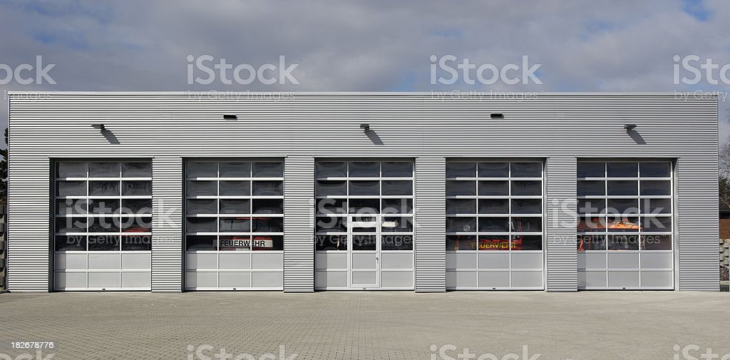 Five doors to choose royalty-free stock photo