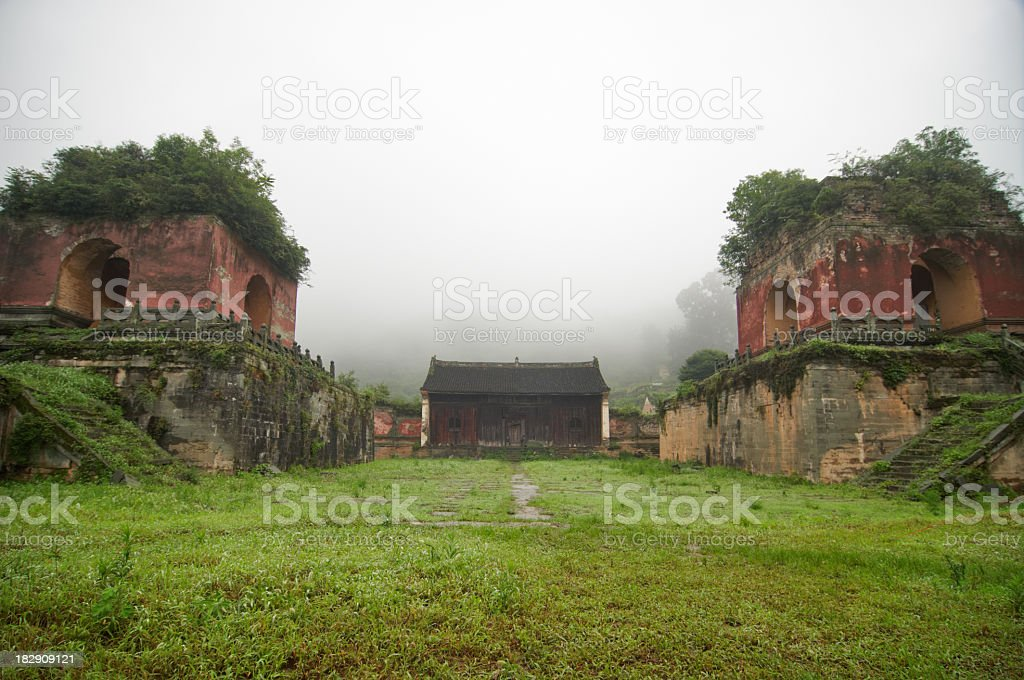 Five Dragon Temple in Wudangshan stock photo