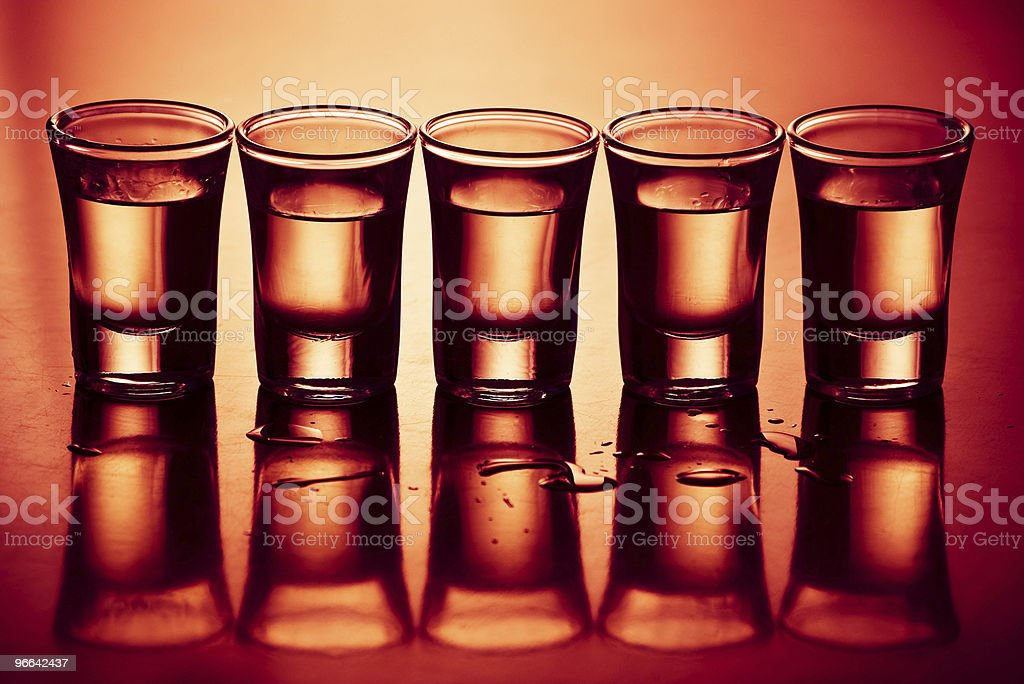 five drinks royalty-free stock photo