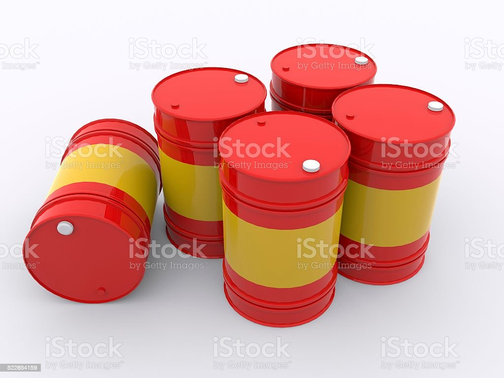 five drums stock photo